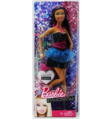 Barbie Fashionistas Black and Blue Doll