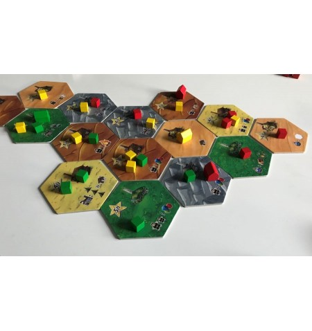 Dice settlers board game (English)