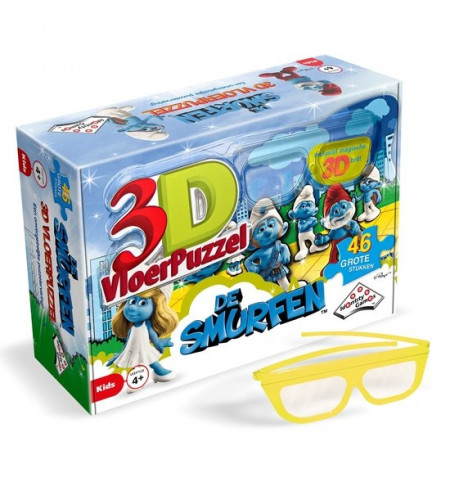 3D Vloerpuzzel - De Smurfen