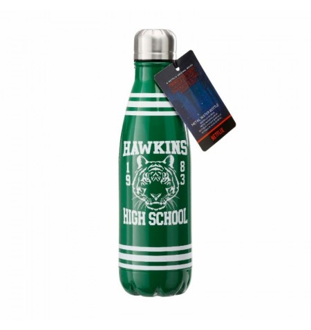Stranger Things : Hawkins High School Water Bottle in metal