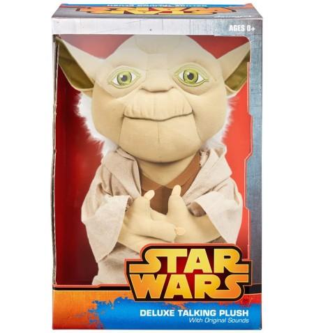 Star Wars - Talking Plush - 38 cm Yoda Deluxe